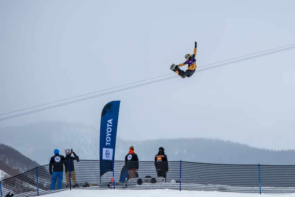 Staale Sandbech tweaks out a grab during semifinals slopestyle Wednesday in Vail. Sandbech took third.
