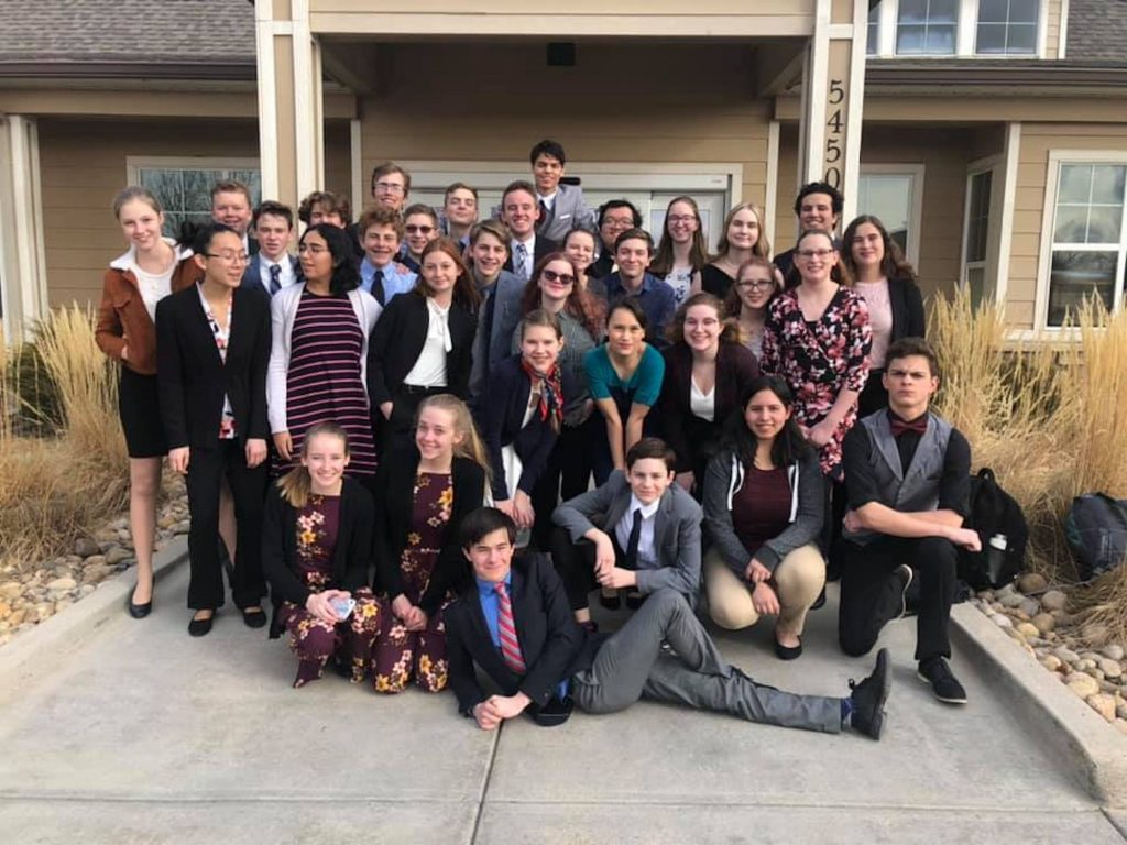 Eagle Valley's contingent for the state speech and debate tournament.