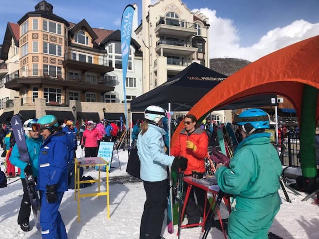Take advantage of free women's ski demos at the base of Lionshead on Saturday from 9 a.m. until 2:30 p.m.
