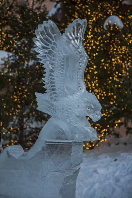 Live ice sculptures are just one of the many activities happening throughout Presidents Day weekend at Beaver Creek.