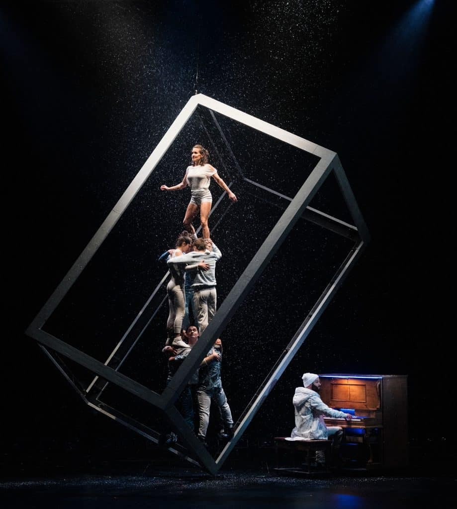 "Cirque FLIP Fabrique brings ""Blizzard"" to the Vilar Performing Arts Center stage for two performances on Sunday."