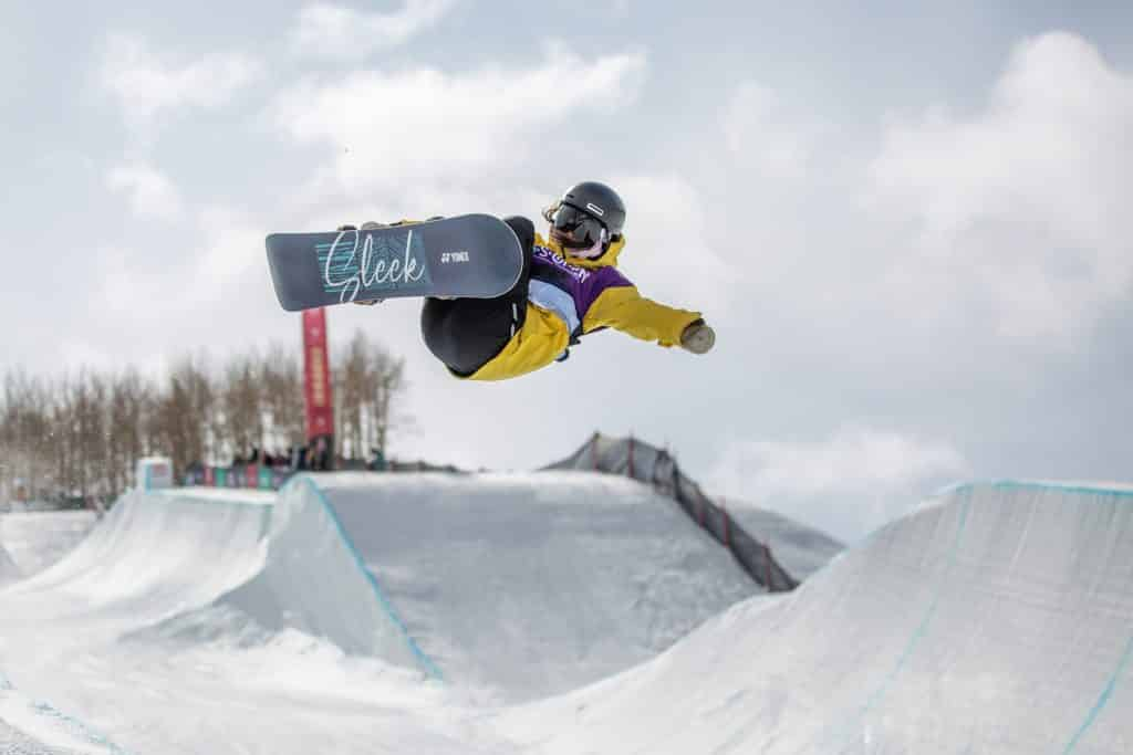 Ruki Tomita competes in the halfpipe semifinals at the Burton US Open Thursday in Vail. Tomita qualified first.