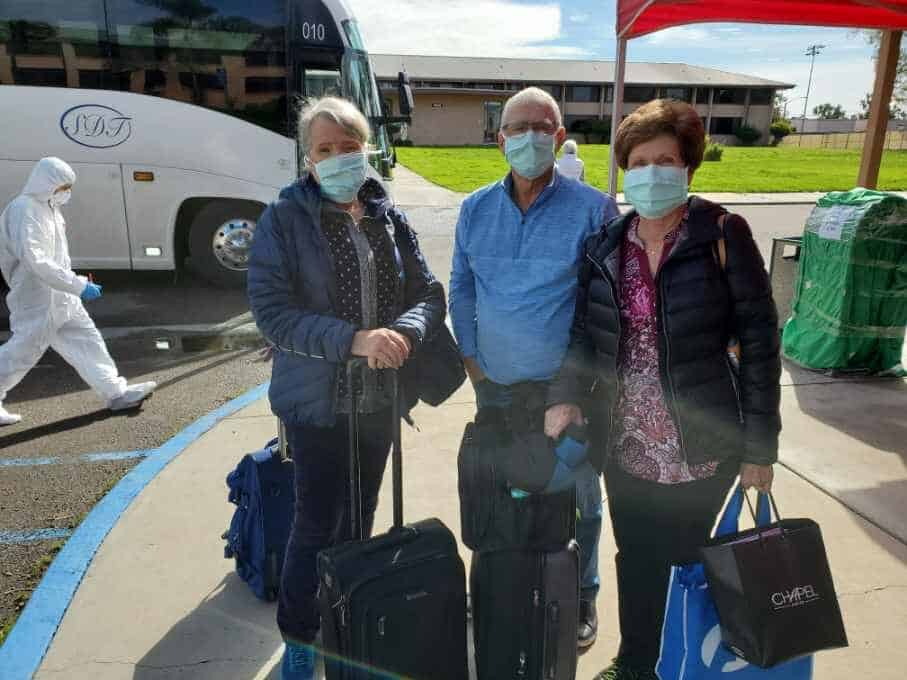 When you're in quarantine for 16 days you have time to make lots of new friends who are in the same boat as you. That's Coloradans Brad and Becky Grant with Bonnie, left.