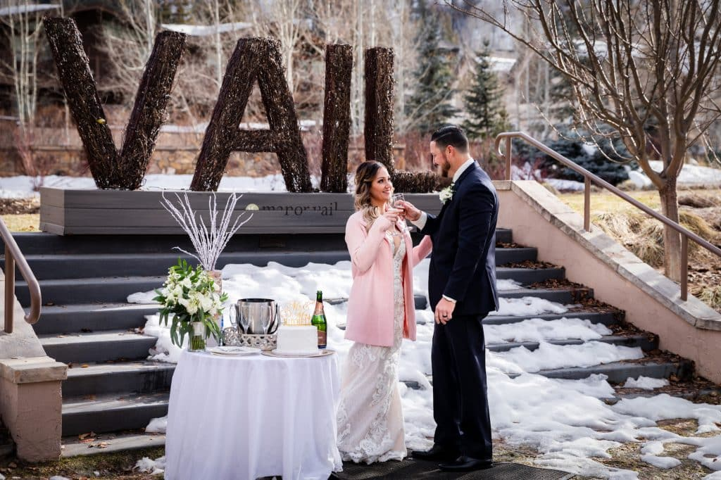 Todd Mitchell and Megan Carmichael held their Vail wedding in March. Most other weddings this year have either gotten much smaller or have been postponed until 2021.