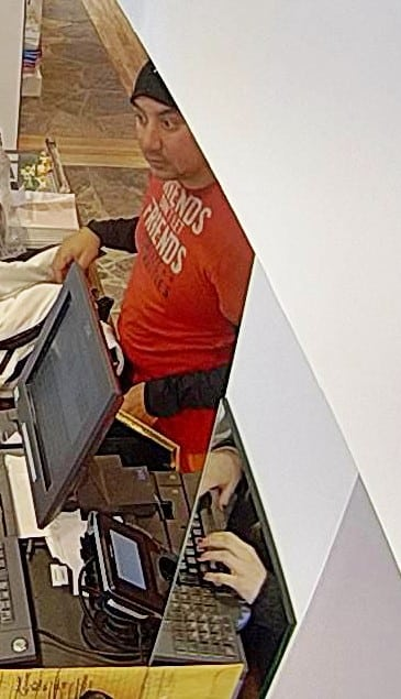 Vail police would like a work with this man, as they seek information about a theft from Gorsuch in Vail Village.