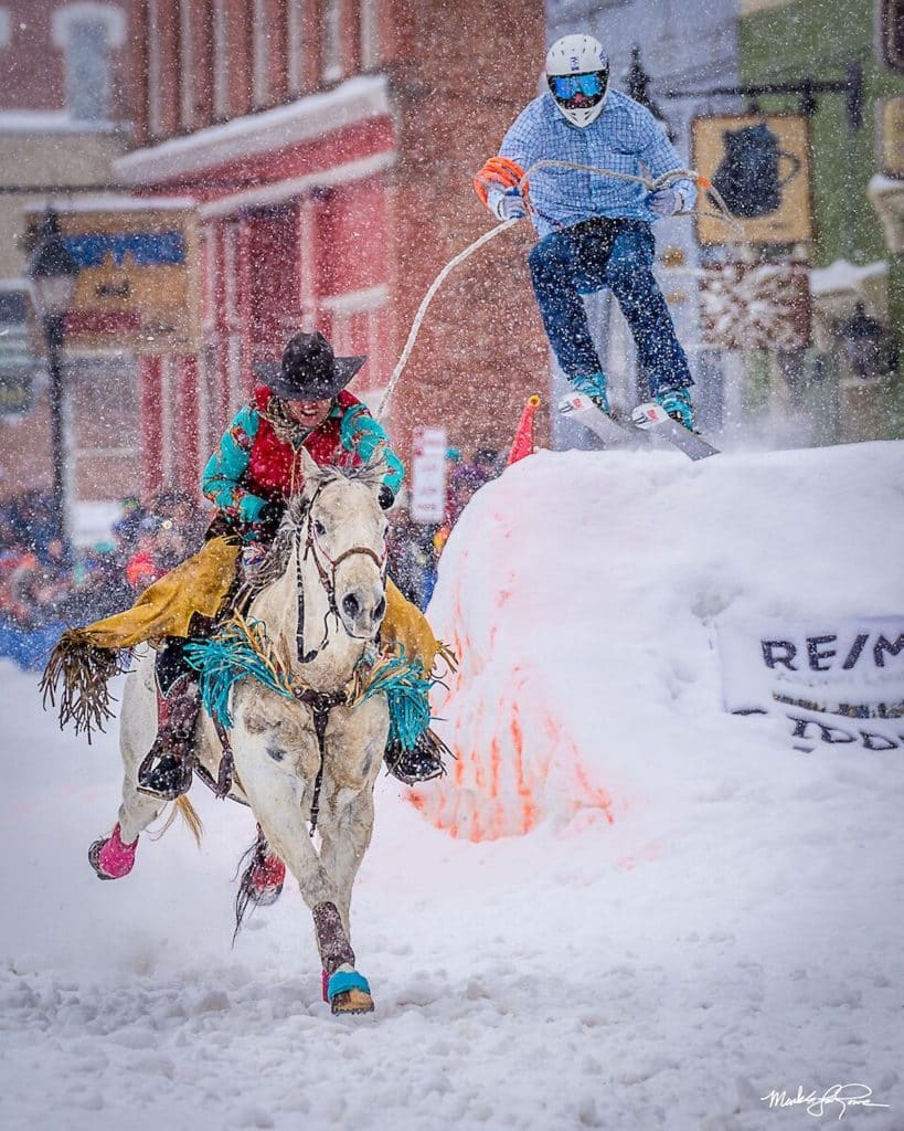 The annual Ski Joring and Crystal Carnival Weekend returns to Leadville with not only ski joring, but also a fat bike race, Nordic skiing paired with paintball, dancing and a film festival.