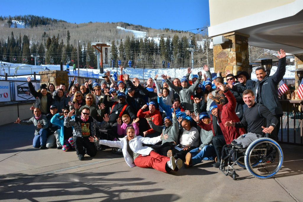 This is the March Vail Veterans Program, in town last week with their families.