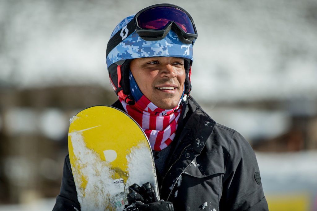 Ronnie Gonzales is all grins during the recent Vail Veterans Program week.