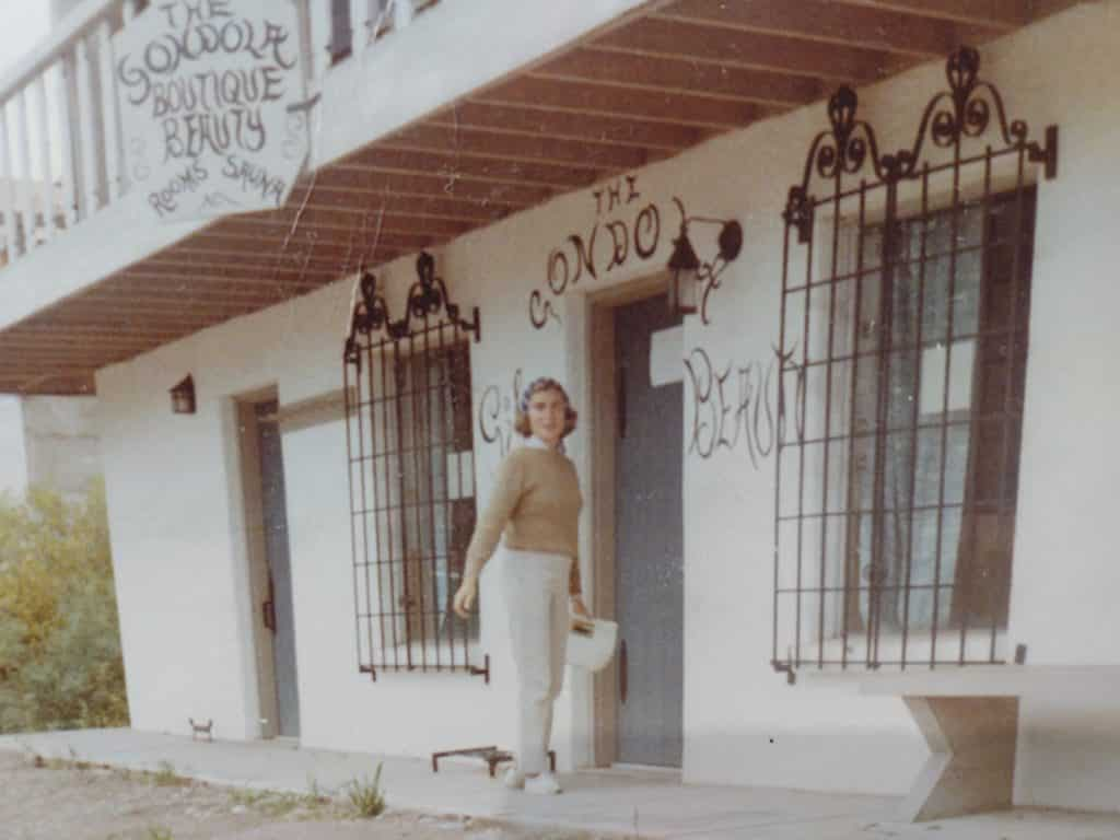 Lorraine Higbie and friend Gretta Parks opened one of Vail's first retail businesses, The Gondola Boutique. They had a hair salon in the back and were the first to sell cross country ski gear.