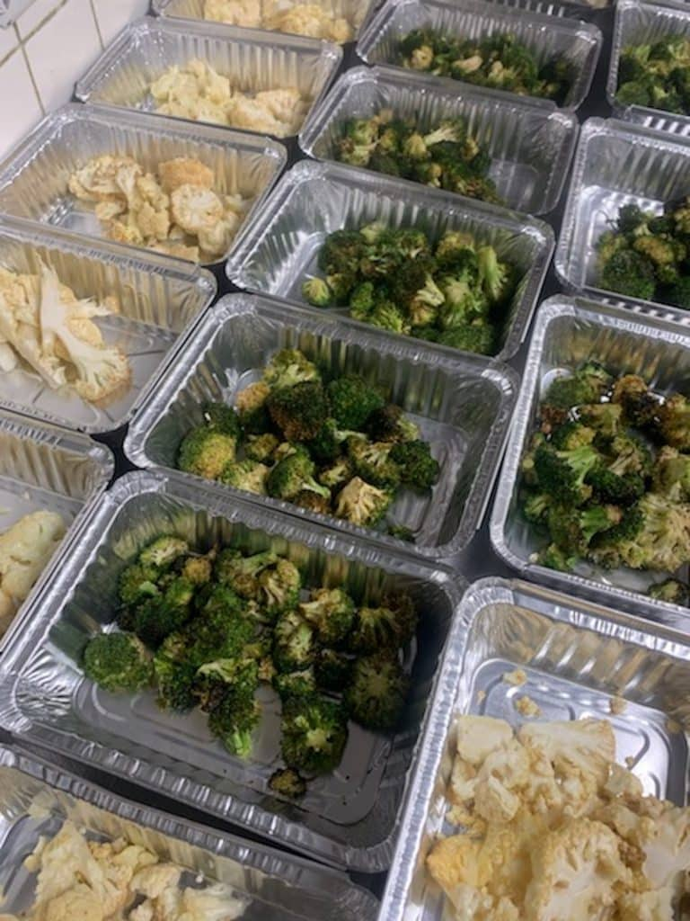 Grilled broccoli in red wine vinaigrette and roasted cauliflower served with black currants, pine nuts, parsley, capers, extra virgin olive oil are examples of the side dishes at La Tour right now.