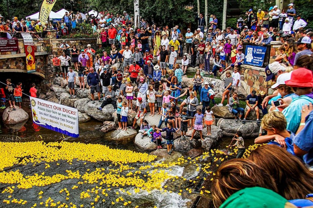 The money raised by local Rotary clubs' annual rubber duck race and other events is rolled back into the community. The Vail Rotary Club provided $50,000 in grants to local food banks and a mental health organization to help in the COVID-19 fight.