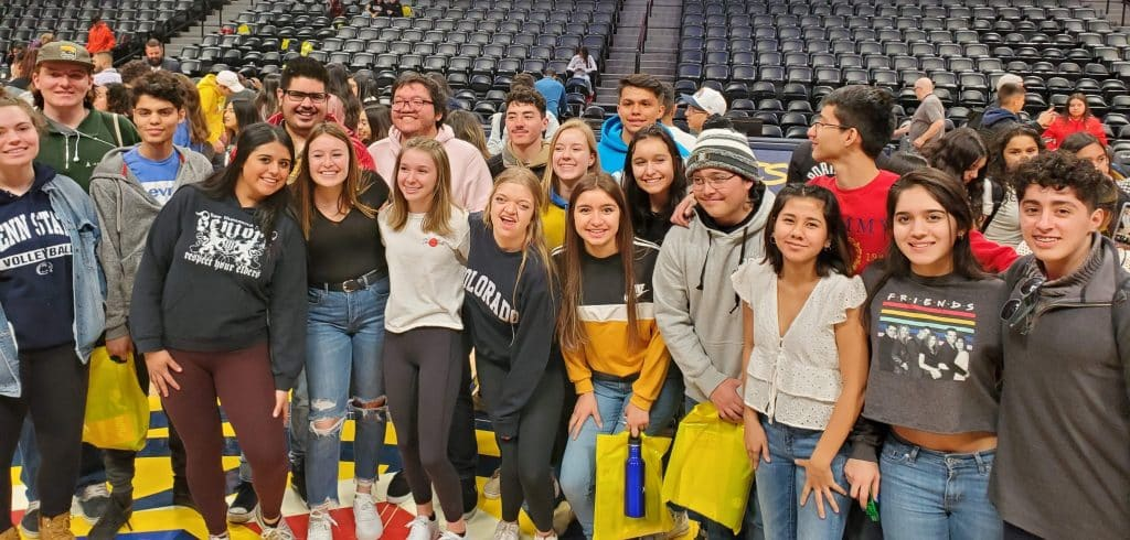 That's Eagle Valley's AVID Class of 2020 at a Denver Nuggets game.