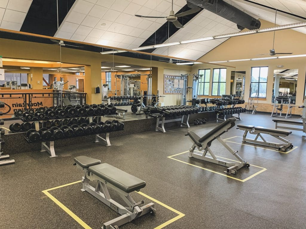 The Gypsum Recreation Center is now open for various fitness classes and one-hour fitness floor sessions under strict social distancing protocols.
