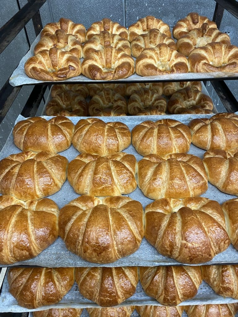 Michel's Bakery is offering a variety of delicious breads and pastries.