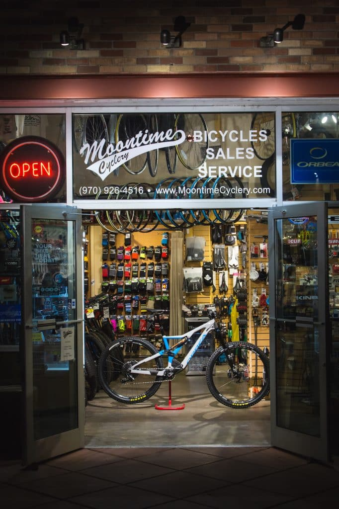 Both Moontime Cyclery locations in Edwards and Eagle are open for service work, bicycle-related retail items as well as new and demo bike sales.