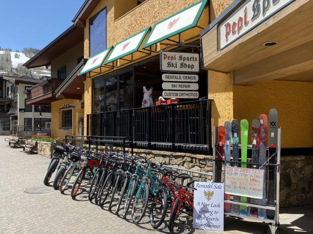 While e-bike rentals are widely available in Vail, and allowed on town paths, the electric-assist cycles technically aren't allowed on Vail Pass.