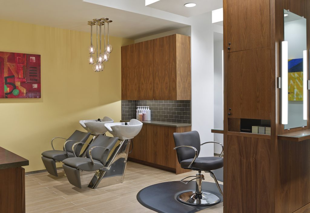 The Salon at Spa Anjali is now open and offering haircuts, color treatments and highlights.