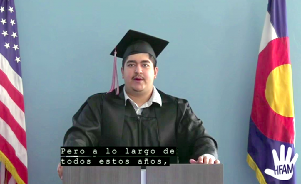 Martin Velazco was one of the student speakers for Red Canyon High School's virtual commencement.
