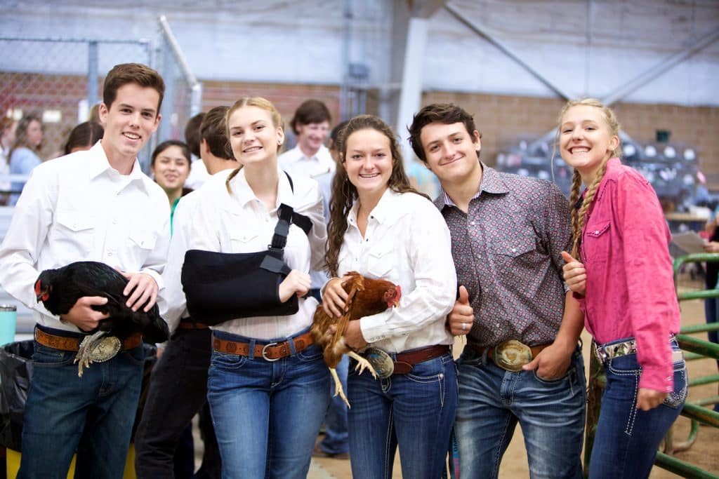 This is the Senior Poultry Showman crew from last year's 4-H shows. The 4-H Junior Livestock Auction will be held July 25, moving online to stockshowauctions.com, although the Eagle County Fair and Rodeo has been cancelled.