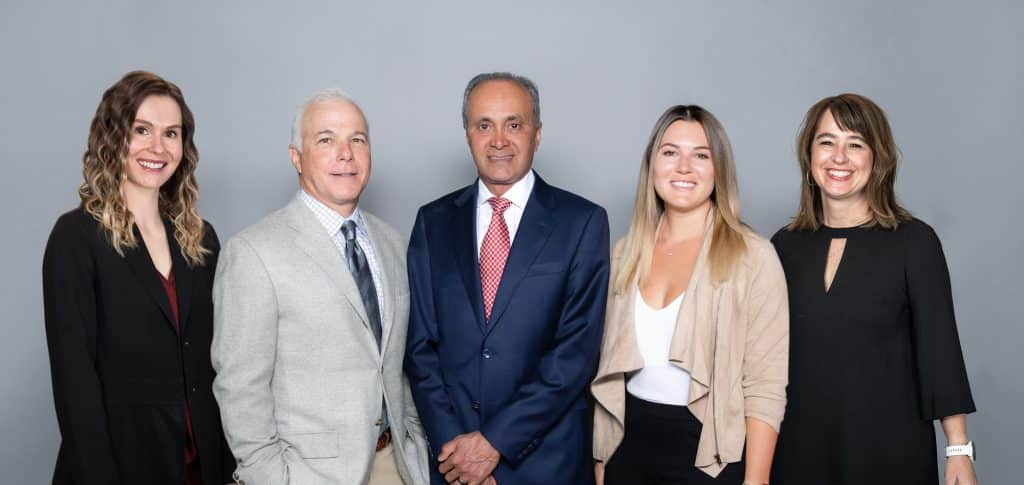 The team at Mangat Plastic Surgery Institute and Skin Care is ready to serve you. Pictured L to R: Chloe Banning, MMS, PA-C, Dr. Steven Copit, Dr. Devinder Mangat, Olivia Hesse, licensed master aesthetician and certified laser technician and Tracie Fletcher, practice manager.