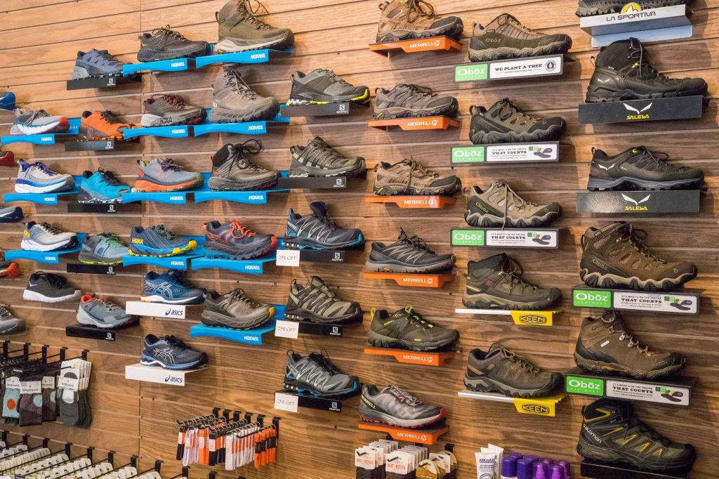 Social distancing with dad on the hiking trail? Check out the footwear selection at Ptarmigan Sports for a pair of shoes perfect for the next trek.