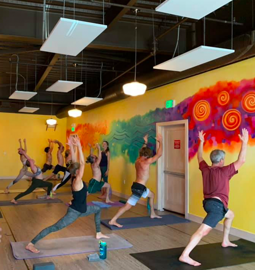Revolution Power Yoga recently opened its Traer Creek location with socially distant measures in place.