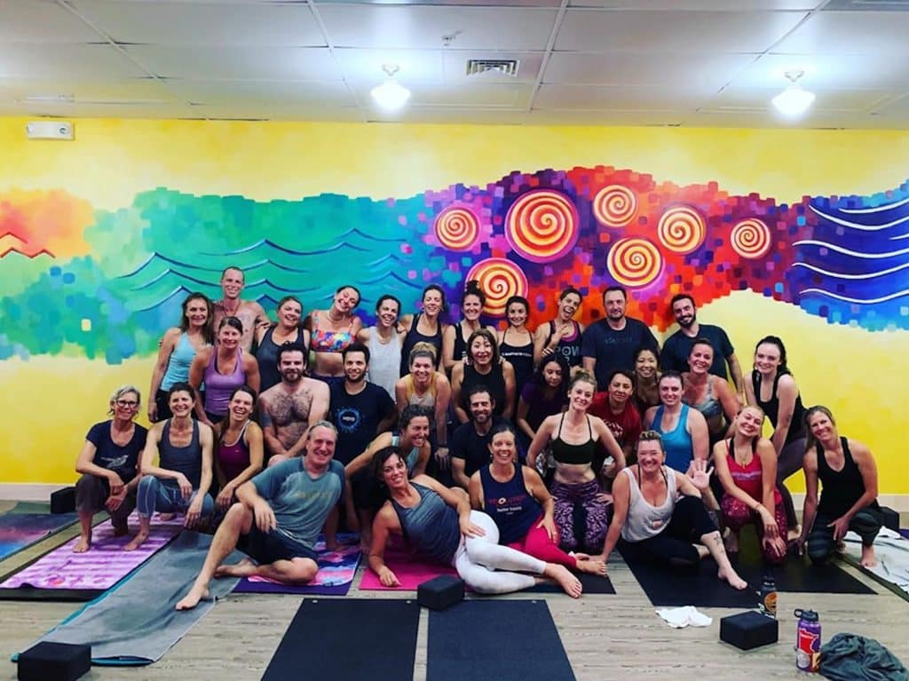 Revolution Power Yoga creates a tight knit community on and off the mat.