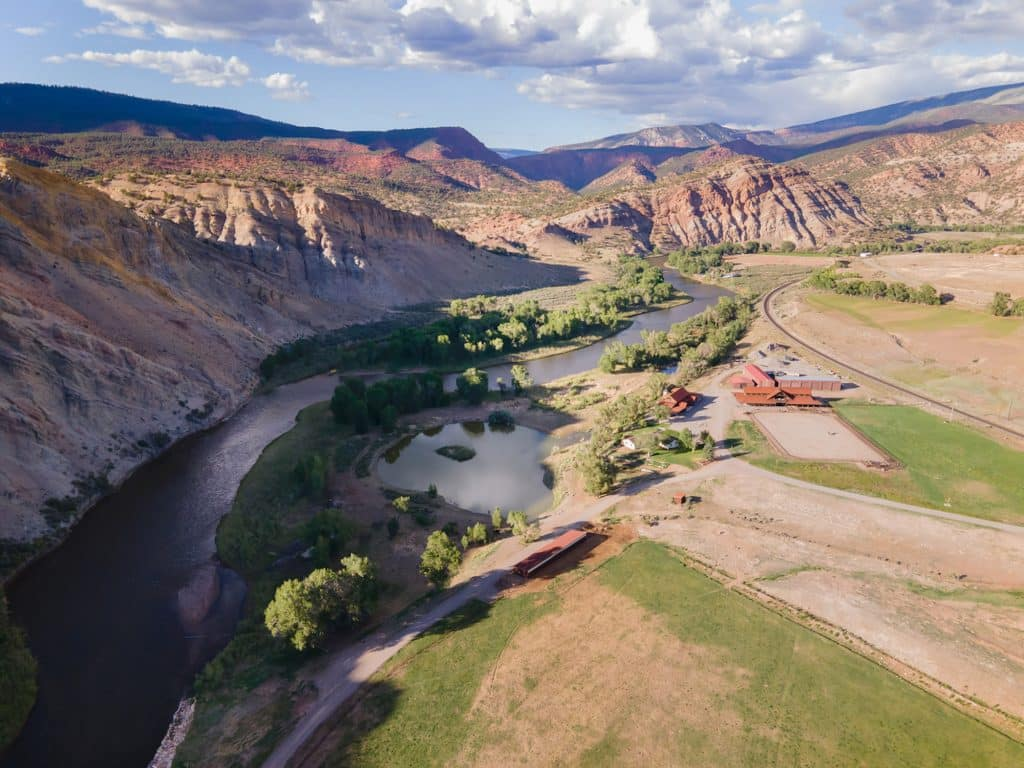 The lifeforce of these 1, 017 acres of working ranchland is two miles of the mighty Colorado River, which flows through the property, shaping the landscape and nourishing the pastures. CRR is the only Colorado homestead with land on both sides of the storied river.