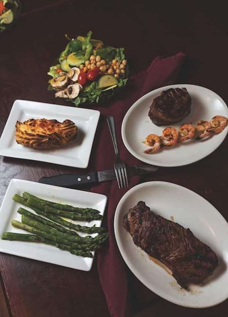 Beyond steak, the Minturn Country Club has seafood and delicious sides like the twice-baked potato. Save room for dessert, the Minturn Country Club is known for its award winning Minturn Tater.