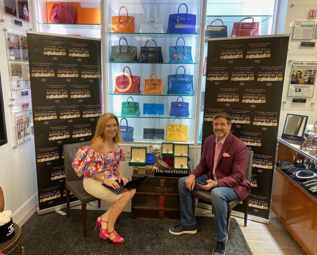 """Rob and Donae Cangelosi Chramosta get ready to record the """"Living the Authentic Life"""