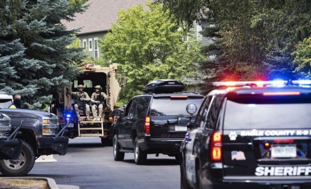Eagle County's Special Operations Unit arrives to the scene in the Willits neighborhood of Basalt on Thursday, August 27.