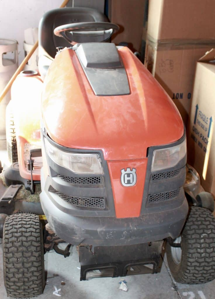 Need a riding lawnmower? This one is up for sale at the Alliance Moving Systems Home to Home sale.