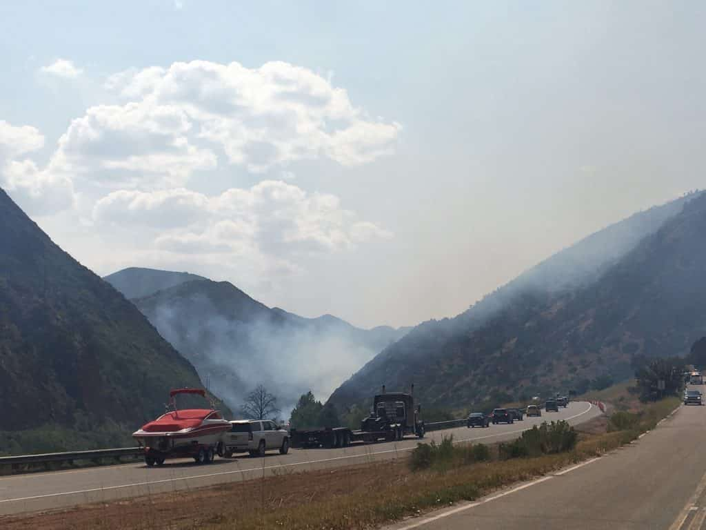 Smoke visible in Eagle County from Pine Gulch Fire near ...