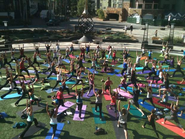 Start your day in a zen-like way with yoga outdoors this Saturday.