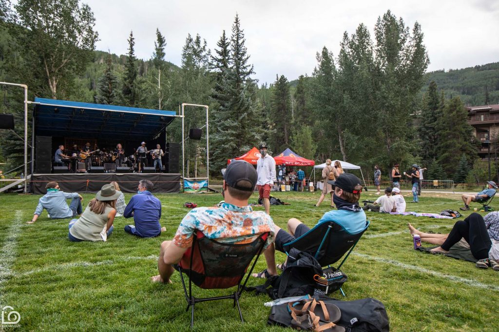 Scott Rednor (center stage) has played a number of concerts in Vail this summer. Normally these concerts would be at his Shakedown Bar, but with shutdown orders, he's played more outdoor venues.