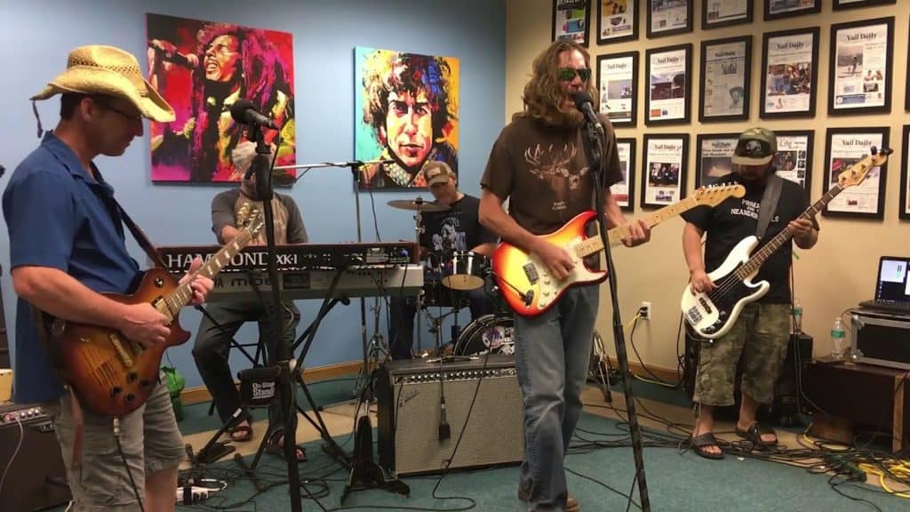 Primal J and the Neanderthals perform as part of Newsroom Jams at the Vail Daily office on August 1, 2019. The band will be headlining Primal Fest in Eagle Ranch on Saturday.