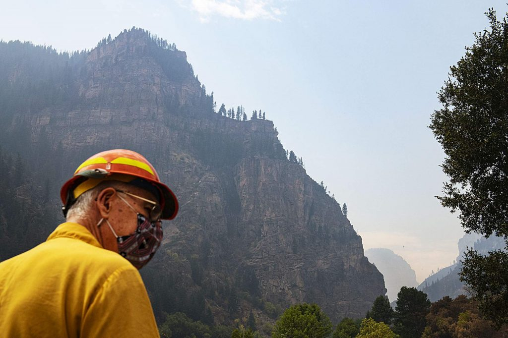 Public Information Officer Wayne Patterson walks on the path at the Hanging Lake Rest Area in Glenwood Canyon on Thursday, August 20, 2020.