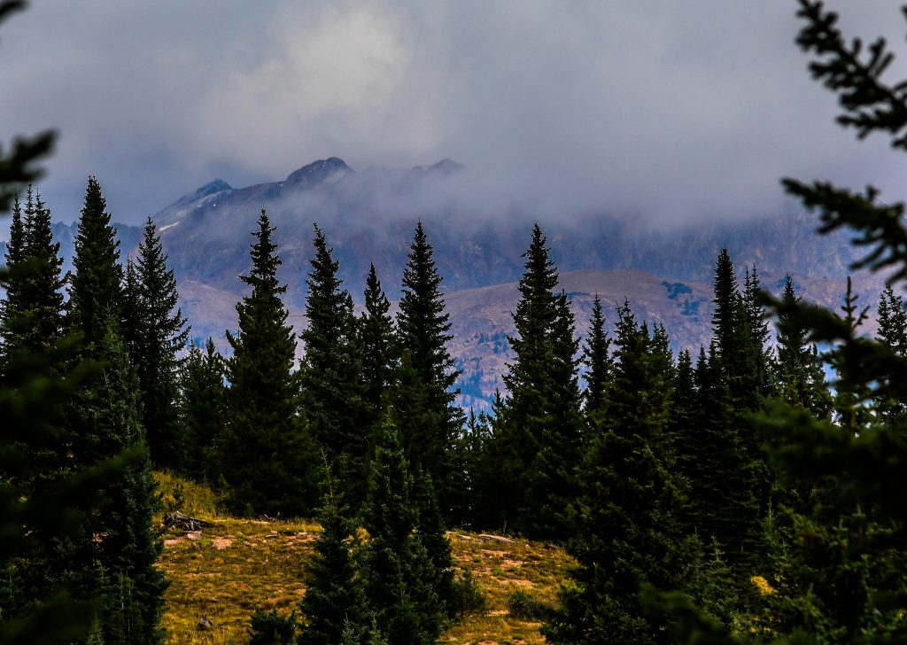 Storm clouds roll in over the Gore Range Tuesday from Shrine Pass. The weather went from hot to not in a matter of hours.