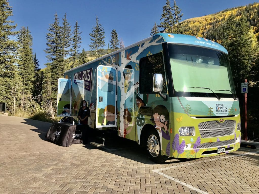 YouthPower365 revealed its new electric Magic Bus at the Ford Amphitheater on Sept. 24. Two Magic Buses serve as licensed, roaming preschools to eight different communities throughout Eagle County.