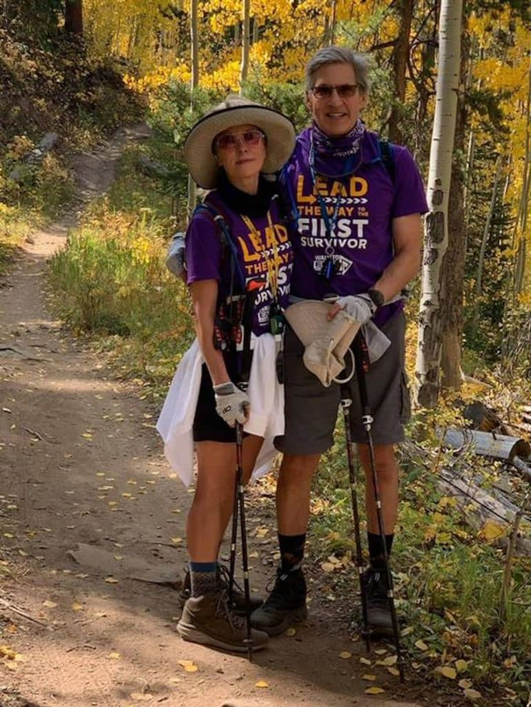 Tracy and Mike Wodlinger chose Allie's Way trail on Beaver Creek Mountain as their trek during the Vail Valley Walk to End Alzheimer's on Saturday.