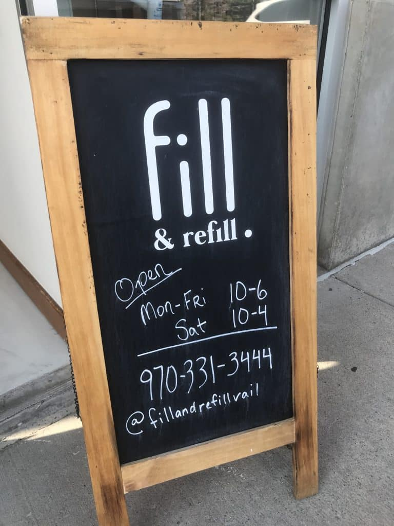 Fill & Refill started out at the Vail Farmers Market and Art Show during the summer of 2019, then moved to the Edwards Commercial Park last fall. Fill & Refill expanded in a space a few doors down in August.