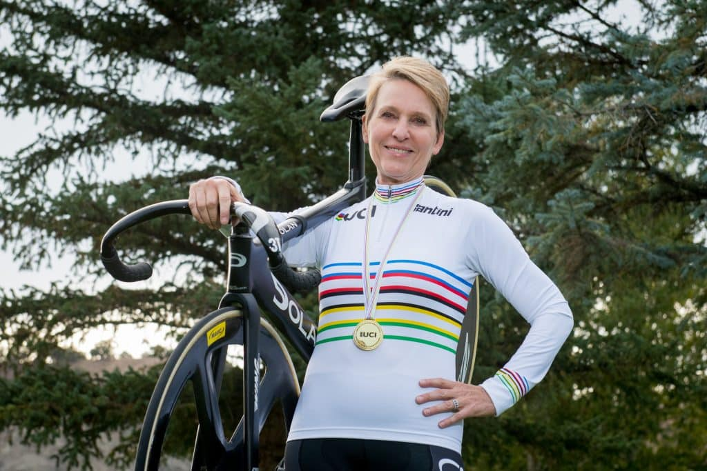 Mindee Stevenson has experienced a year of highs and lows. On the high side, she won a gold medal in USA Cycling masters division veladrome competition and married long-time companion Will Brown. On the low side, she was diagnosed with cancer.