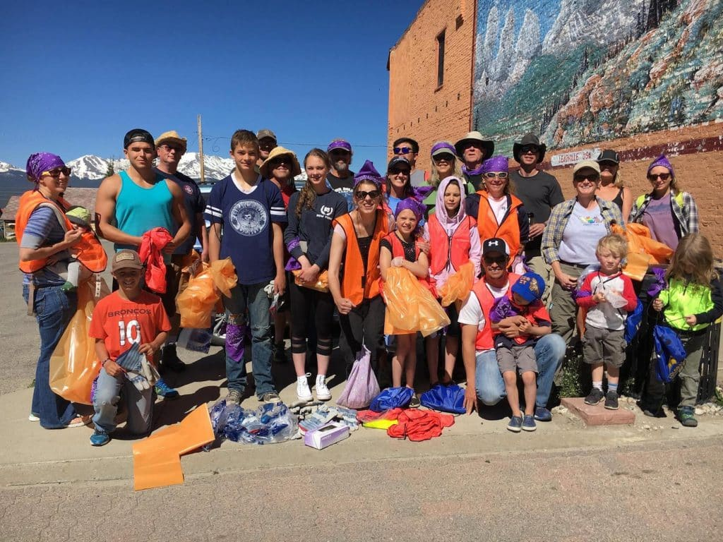 Leadville and Lake County residents tend to be proud. These folks are helping with the community cleanup.