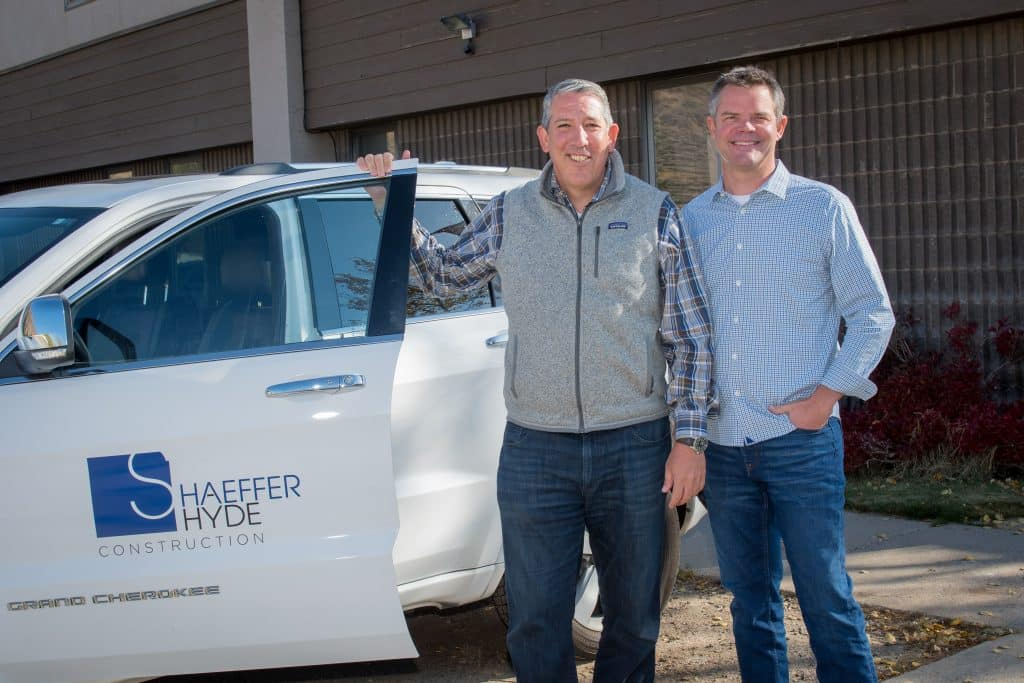 Bob Campbell, left, is leading the Aspen and Roaring Fork Valley business for Shaeffer Hyde Construction. Pictured with Campbell is David Hyde, president of Shaeffer Hyde Construction.