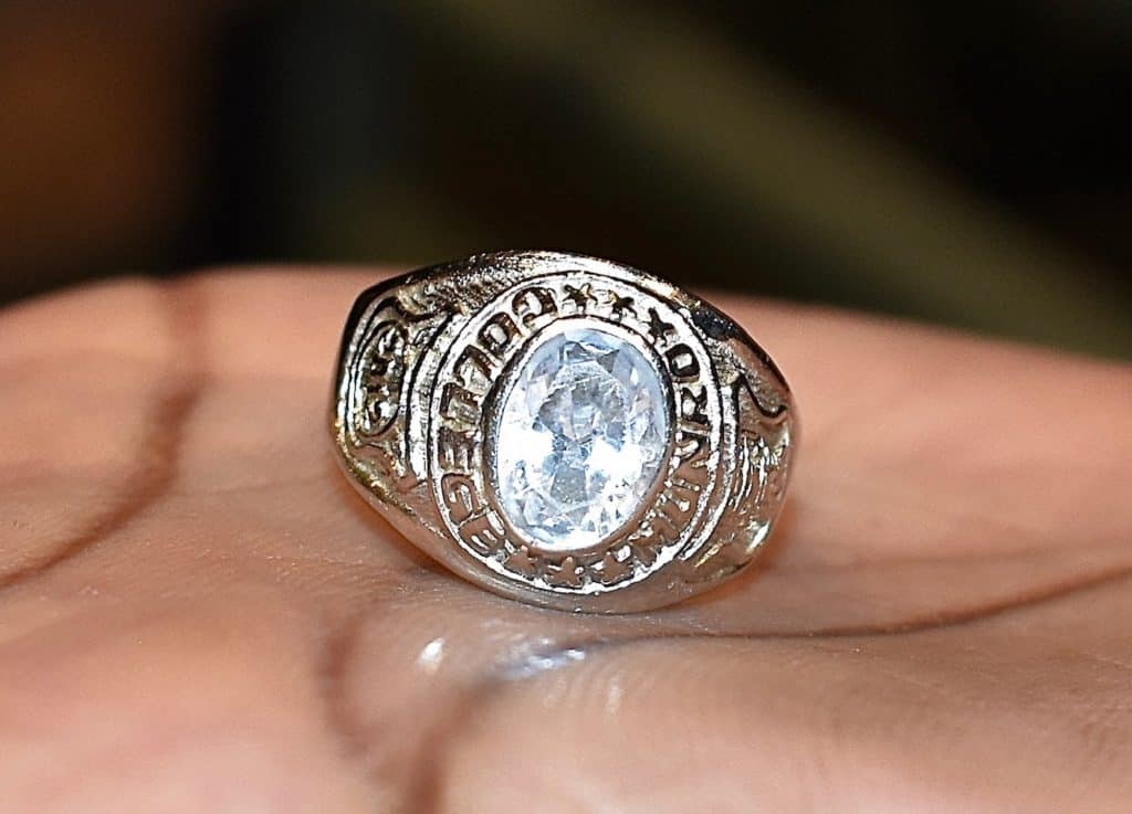 The ring Eliza Pyke found at Freedom Park in Edwards had the words Munro College, the year 2012 and the initials A.G. inscribed on the ring. She and her mom took those clues and set out to search for the ring owner.