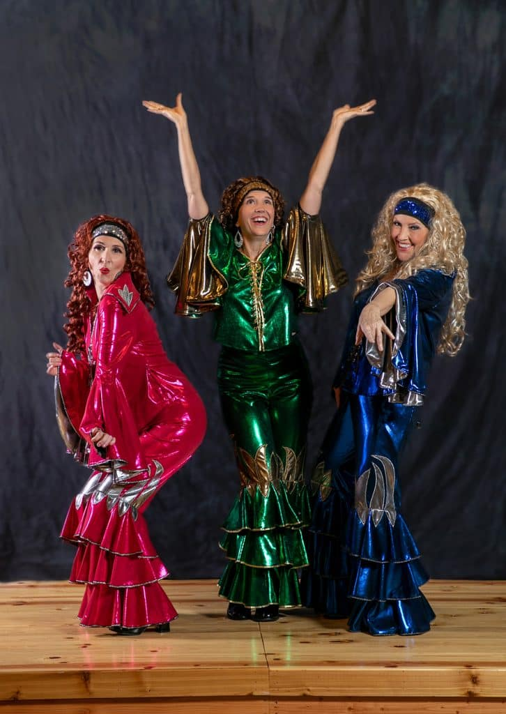 Kathy Morrow, right, Beth Swearingen, center and Charis Patterson, left, comprise the Fabulous Femmes, a high-energy group that performs tunes from the 1940s through the 1980s.
