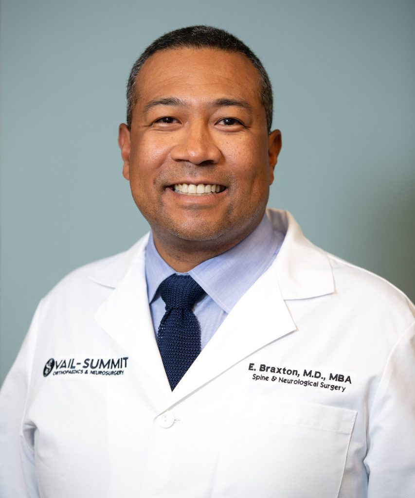 Dr. Ernest Braxton, a noted neurosurgeon with offices at Vail Summit Orthopaedics & Neurosurgery in both Eagle and Summit counties, is a leading expert at treatments involving cervical artificial disc replacements. (Photo courtesy of Vail Summit Orthopaedics & Neurosurgery)